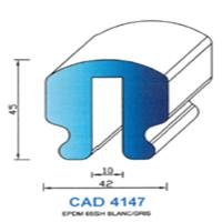 CAD4147B Profil EPDM   65 SH Blanc
