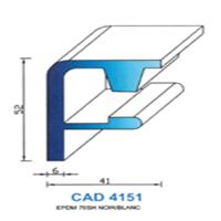 CAD4151N Profil EPDM   70 SH Noir