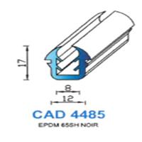 CAD4485N Profil EPDM   65 SH Noir