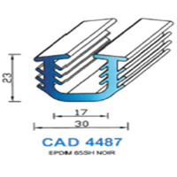 CAD4487N Profil EPDM   65 SH Noir