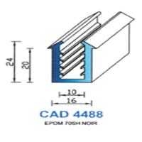 CAD4488N Profil EPDM   70 SH Noir