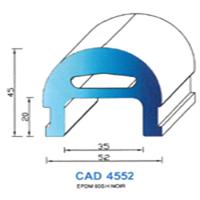 CAD4552N Profil EPDM   60 SH Noir