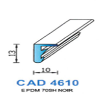 CAD4610N Profil EPDM   70 SH Noir