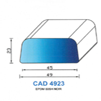 CAD4923N Profil EPDM   60 SH Noir