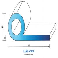 CAD4924N Profil EPDM   60 SH Noir