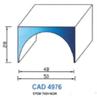 CAD4976N Profil EPDM   70 SH Noir