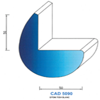 CAD5090B Profil EPDM   70 SH Blanc