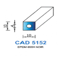 CAD5152N Profil EPDM   65 SH Noir