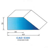 CAD5300N Profil EPDM   65 SH Noir