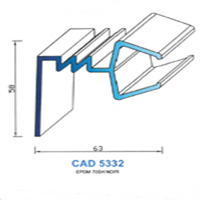 CAD5332N Profil EPDM   70 SH Noir