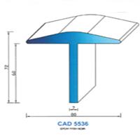 CAD5536N Profil EPDM   65 SH Noir