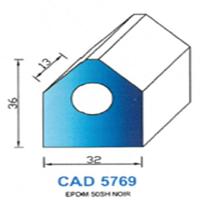 CAD5769N Profil EPDM <br /> 50 SH Noir<br />