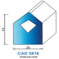 CAD5816N Profil EPDM <br /> 50 SH Noir<br />