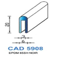 CAD5908N Profil EPDM   65 SH Noir