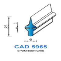 CAD5965G Profil EPDM   65 SH Gris