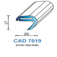 CAD7019N Profil EPDM <br /> 70 SH Noir<br />