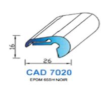 CAD7020N Profil EPDM   65 SH Noir