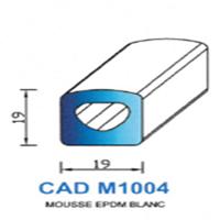 CADM1004B Profil Mousse EPDM <br /> Blanc<br />