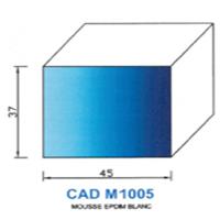 CADM1005B Profil Mousse EPDM <br /> Blanc<br />
