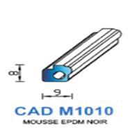 CADM1010N Profil Mousse EPDM   Noir