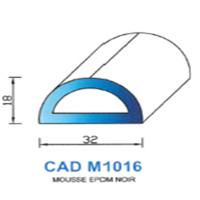 CADM1016N Profil Mousse EPDM <br /> Noir<br />