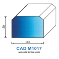 CADM1017N Profil Mousse EPDM <br /> Noir<br />