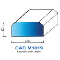 CADM1019N Profil Mousse EPDM <br /> Noir<br />