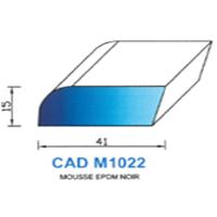 CADM1022N Profil Mousse EPDM <br /> Noir<br />