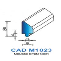 CADM1023N Profil Mousse EPDM <br /> Noir<br />
