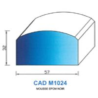 CADM1024N Profil Mousse EPDM <br /> Noir<br />