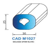 CADM1027B Profil Mousse EPDM   Blanc