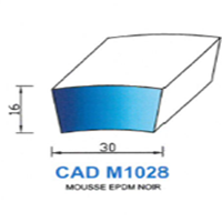 CADM1028N Profil Mousse EPDM   Noir