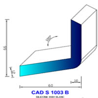 CADS1003B Silicone Compact   45 SH Blanc