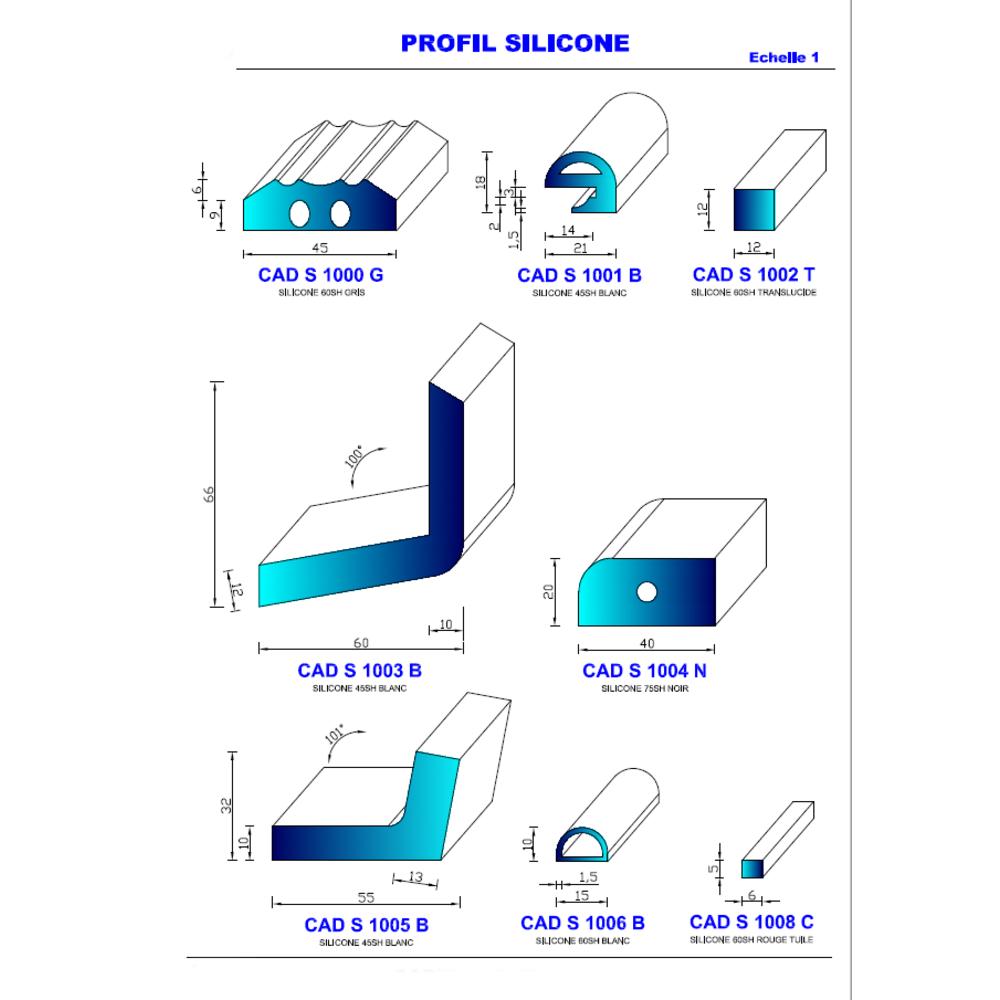 CADS 1005 B Silicone Compact   45 SH Blanc