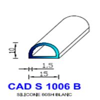 CADS1006B Silicone Compact <br /> 60 SH Blanc<br />