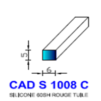 CADS1008C Silicone Compact <br /> 60 SH Rouge Tuile<br />