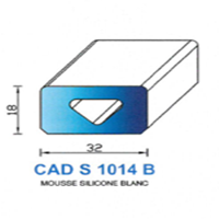 CADS1014B Silicone Cellulaire   Blanc