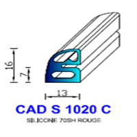CADS1020C Silicone Compact <br /> 70 SH Rouge Tuile<br />