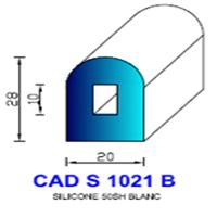 CADS1021B Silicone Compact   50 SH Blanc