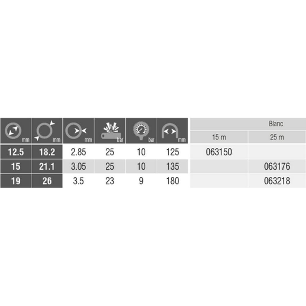 YACHTING Blanc   [Ø 19 mm]   Vendu en Couronne 25 ML
