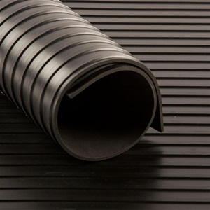 Tapis CANNELE cc Noir   [EP 3 mm]   1 Mètre Linéaire = 1,2 m²