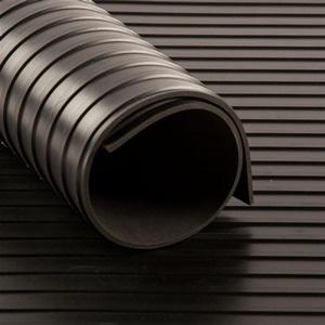 Tapis CANNELE cc Noir   [EP 3 mm]   1 Mètre Linéaire = 1.2 m²