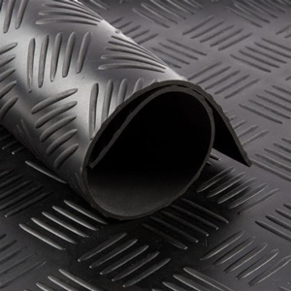 Tapis cc CHECKER Noir   [EP 3 mm]   1 Mètre Linéaire = 1.4 m²