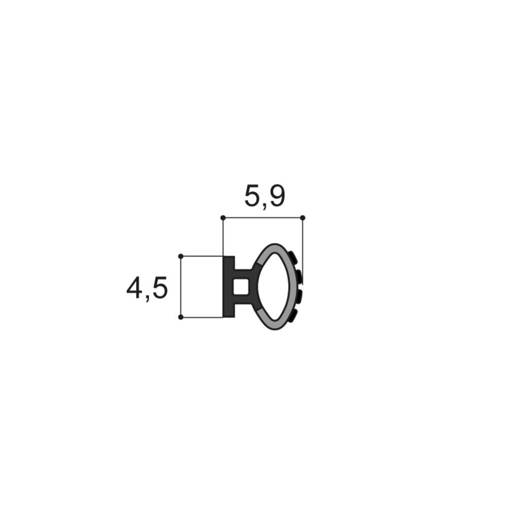 Profilé Menuiserie Aluminium   Gorge 5,5 mm Gris   Vendu au Mètre
