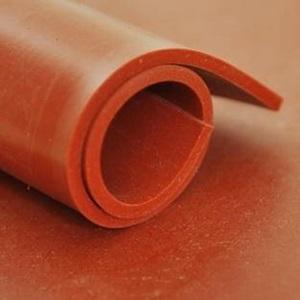 Feuille SILICONE Rouge   [EP 2 mm]   1 Mètre Linéaire = 1.2 m²