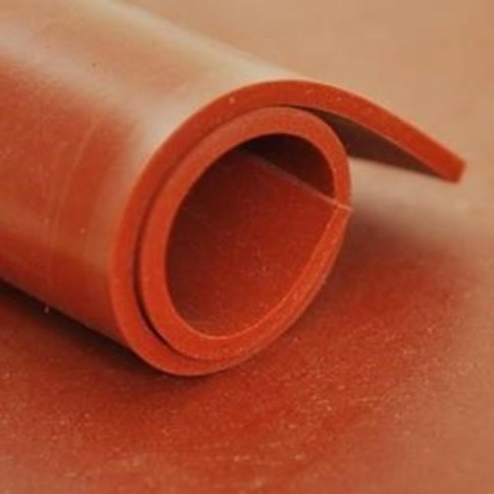 Feuille SILICONE Rouge   [EP 8 mm]   1 Mètre Linéaire = 1.2 m²