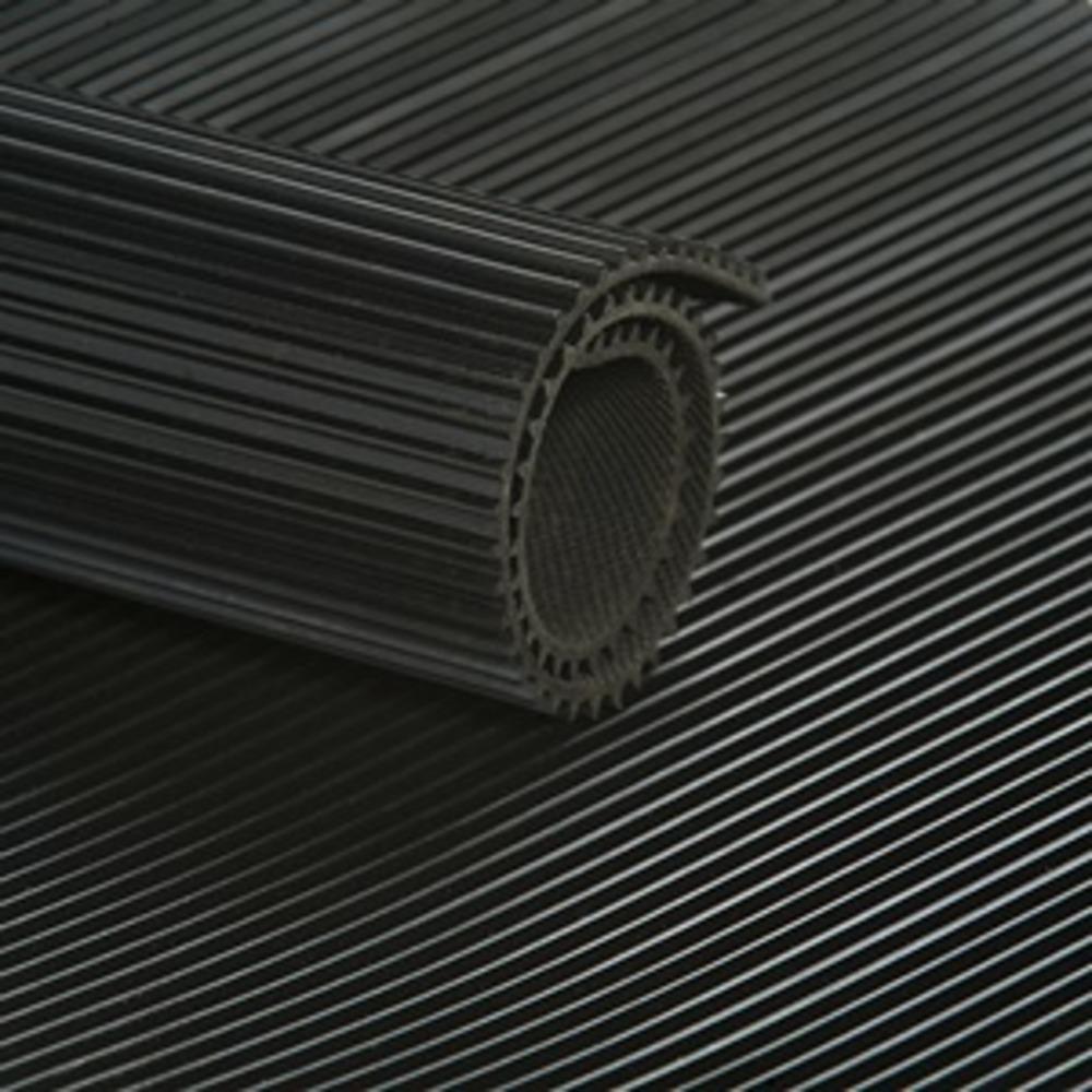Tapis STRIES FINES Noir  [EP 3 mm]  Vendu au m² Linéaire