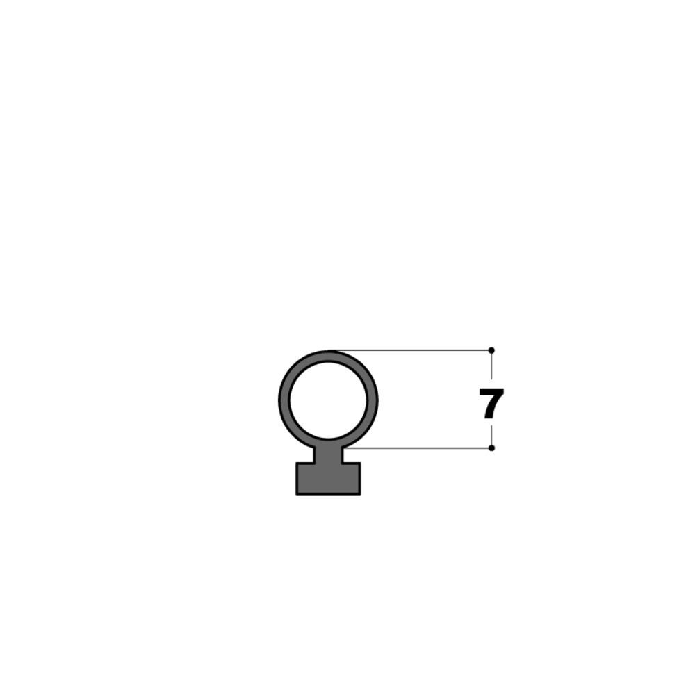 Joint Tubulaire   Ø 7 mm Noir   Vendu au Mètre