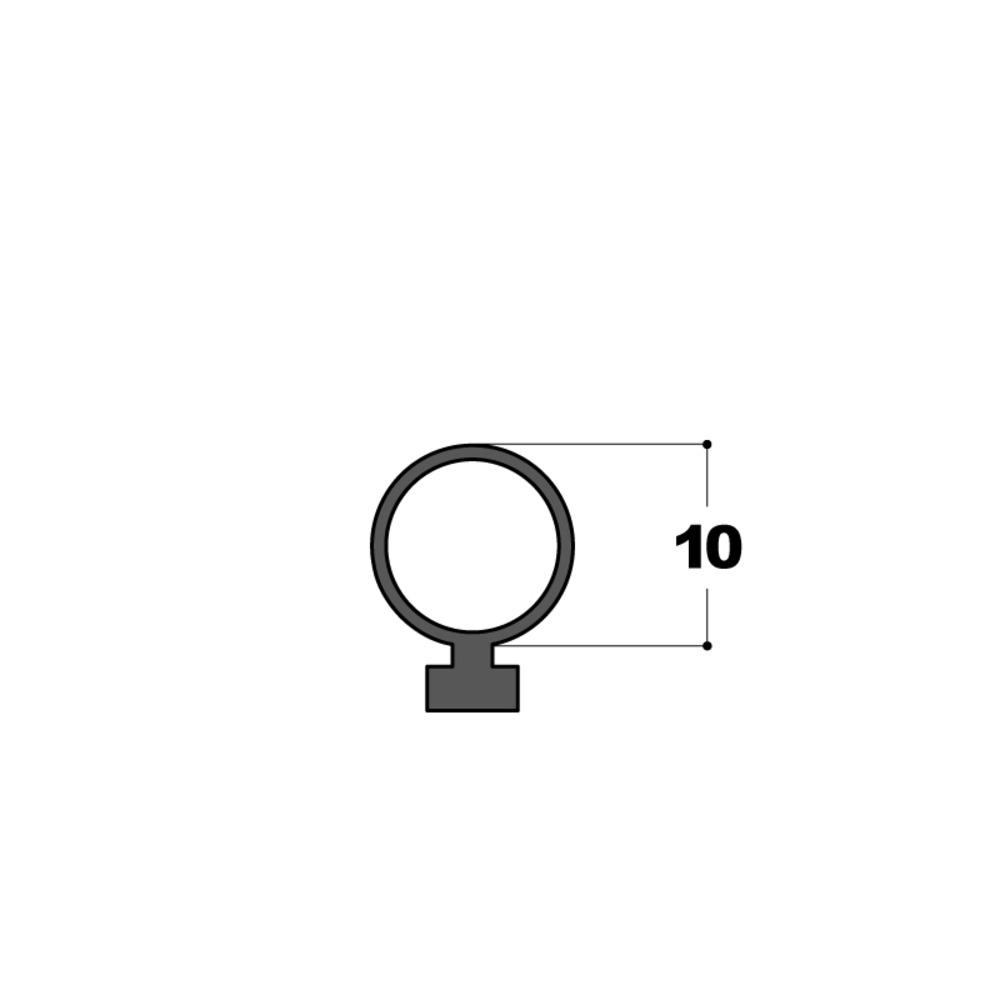 Joint Tubulaire   Ø 10 mm Noir   Vendu au Mètre